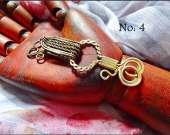 Vintage Jewelry Supplies, Vintage Garment Closures, Antique Hook & Eye, Original Priest Vestment Closer / Cloak Clip, c 1850. No: 4 Listing
