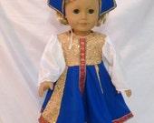 Nutcracker Russian Girl Costume for an 18 inch doll N25