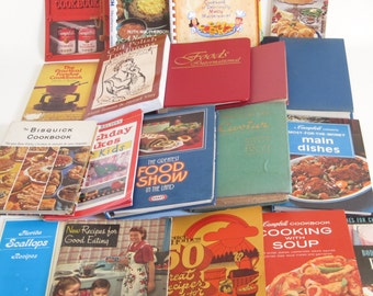 Cook Booklets Recipe Books & Advertising Brand Cookbooks Instant Collection Lot of 72, Campbell's Soup Cookbooks, Watkins