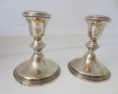 Vintage Empire Sterling Silver Candlesticks Weighted