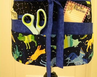 Teacher Crafter Vendor Utility Apron-Night Sky