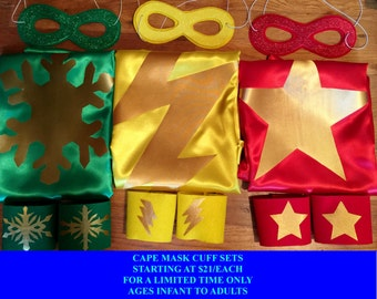 SUPERHERO CAPE SETS in Small and Large Bundles Great for Summer Parties or for Superhero Capes Birthday Party Favors ad Gifts