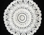 Beautiful Crocheted Doily, 11-1/2 Inches