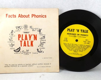 Facts About Phonics Play 'N Talk Vintage Learning Book Record 1968 Teacher Student Learning Aid LP 40 Classroom Homeschool