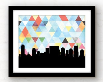 Nashville skyline | Nashville art print | Nashville print | geometric art | geometric art | Nashville, Tennessee art print | Nashville home