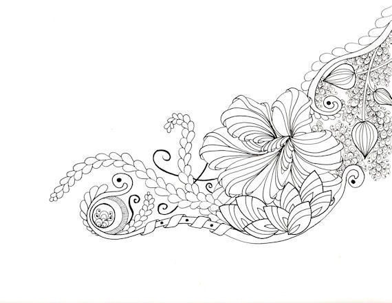 Printable Zendoodle Adult Coloring Page A10