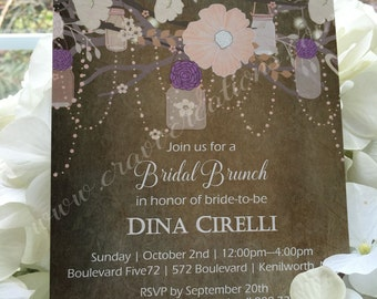 Whimsical Bridal Shower Invitation with matching inserts
