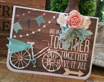 Handmade card...together