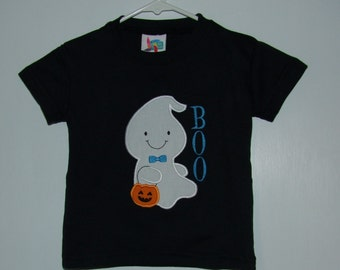 Boo Ghost Black  T-Shirt
