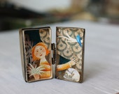A magic fairytale in a vintage box. Handmade paper cutting. free shipping