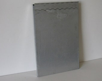Vintage Metal Letter Size Clipboard - repurposed display, photo display
