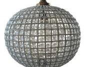 Sphere chandelier. Round Empire Detailed Ball Chandelier. Fig House Vintage Interior Design. Atlanta
