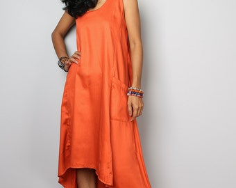 Orange Dress - Orange Halter Dress : Let's Party Collection 2015
