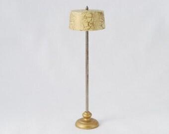 Vintage 1950's Strombecker Wooden Doll House Floor Lamp - Mid Century Modern Design - Play Toy Decor Decoration