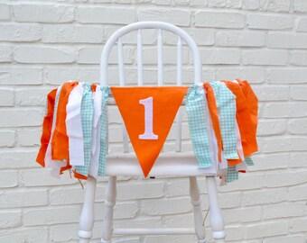 Boy birthday banner - Fall Birthday party - Finding Nemo high chair banner - nemo 1st birthday banner -  Fall Birthday Banner - Fall Party