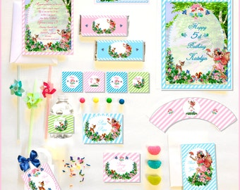 FAIRY PARTY COLLECTION - Personalized Printable Download