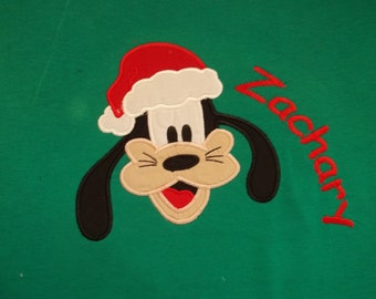 Goofy Christmas Short Sleeve Appliqued Tshirt - Toddler Tshirt sizes 12 months to 7