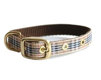 Dog Collar, Plaid Print Collar