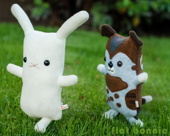 Bunny Rabbit stuffed animal plush, Handmade bunny stuffy doll, cuddly soft plushie toy, kawaii white rabbit, cute room decor, boy girl gift