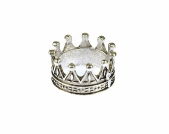 Mr ring ring Crown silver Crown ring 19 mm