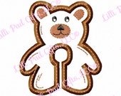 G-Tube Cover - Teddy Bear - Applique - Machine Embroidery Design - 2 sizes