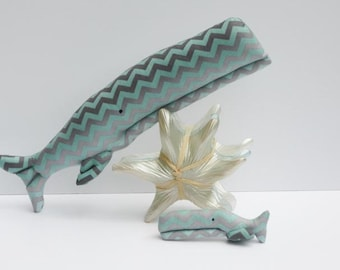 Stuffed whale toys gray teal softie plush whale big and small sea nautical aquatic child friendly toys fish  sea ocean baby shower gift