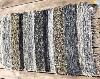 Fuzzy Hand Woven Rug