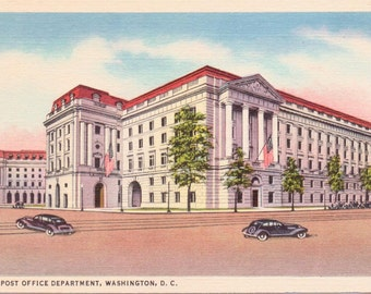 Washington D.C., New Post Office Department - Linen Postcard - Unused (JJ)