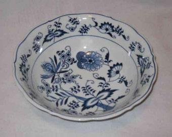 "9"" BLUE DANUBE Onion Vegetable Serving Bowl Rectangle"