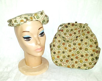 Hat and Purse Matching 1940's Lane Bryant Sir David New York