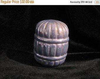Valentine SALE Rare Color Blue luster porcelain bird cage seed cup