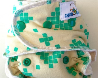 "Cheeky Cloth One Size Organic Bamboo Fitted or AI2 Diaper ""Taos"""