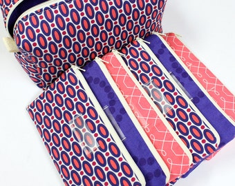 Cash Envelope System - Cash Budget System - 6 Cash Budget Envelopes with Zippers and Zippered Case - READY TO SHIP