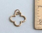 Flower Charm, Bronze Clover Charm, Open Flower Charm, Clover Flower Pendant, Cut Out Flower Charm, Clover Flower Charm, 17mm ( 1 piece )