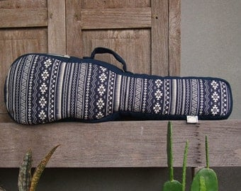 Concert ukulele case - Navy blue ukulele bag (Made to order)
