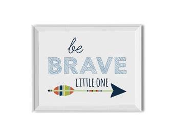 Be Brave Wall Art Boy, Be Brave Nursery Art Boy, Woodland Nursery Art Boy, Tribal Nursery Art Boy, Tribal Wall Decor Boy, Navy Blue, Arrows
