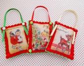Set Of Three Cute Mini Christmas Decorations