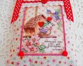 Retro Inspired Valentine's Lavender Sachet/Door Hanger