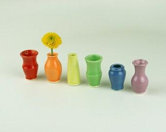 Little Buddies Bud Vases - Rainbow 6 Pack