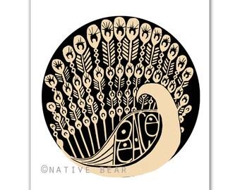 Peace Fowl Print