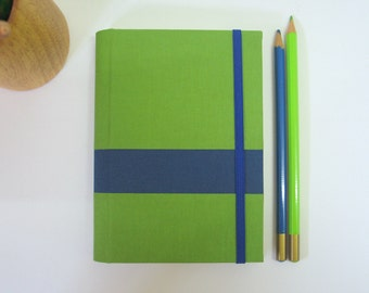 Ready to Ship - 2016 Wide Stripe Weekly Planner in Green and Navy Blue - A6 // 4 3/8 x 6 1/4 inches size