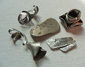 Curly twirly beach metal finds from Seaham Beach, England