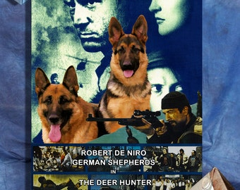 German Shepherd Art Poster Canvas Print - The Deer Hunter Movie Poster NEW Collection by Nobility Dogs