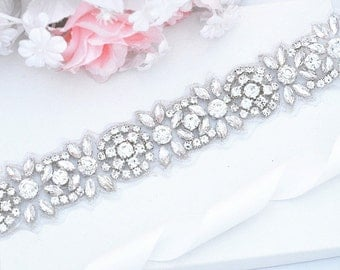 LILI Wedding bridal crystal sashSALE Wedding Belt, Bridal Belt, Sash Belt, Crystal Rhinestones sash belt