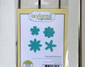 Taylored Expressions Friendship Blooms die, for card making, scrapbooking, stamping, art journaling, planning, mini albums, mix media