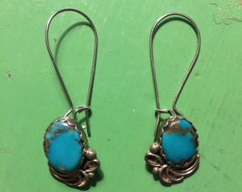 Upcycled Vintage Turquoise Earrings
