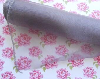 Soft Organza Fabric Dark Lilac 3 meters