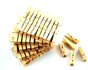 Natural Wooden Clothespins 40 pcs