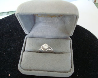 simulated  diamond Ring , SIZE 6 3/8 --   PLEASE see  details in description.