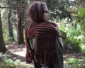 Long Mori Scarf ~ Fringe ~ Redwood Fairy - READY TO SHIP